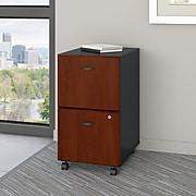 Bush Business Furniture Cubix 2 Drawer Mobile File Cabinet, Hansen Cherry/Galaxy (WC94452P)