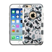 Insten Camouflage Hard Rubberized Case For Apple iPhone 6/6s - Gray/White