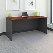 Bush Business Furniture Westfield 66W x 30D Office Desk, Hansen Cherry/Graphite Gray (WC24442A)