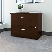 Bush Business Furniture Westfield 36W 2 Drawer Lateral File Cabinet, Mocha Cherry (WC12954C)