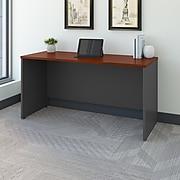 Bush Business Furniture Westfield 60W x 24D Credenza Desk, Hansen Cherry/Graphite Gray (WC24461)