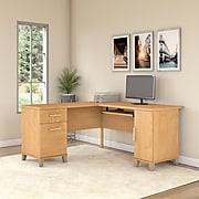 Bush Furniture Somerset 60W L Shaped Desk, Maple Cross (WC81430K)