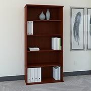 Bush Business Furniture Westfield 36W 5 Shelf Bookcase, Mahogany (WC36714)