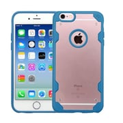 Insten Hard Crystal TPU Cover Case For Apple iPhone 6/6s - Clear/Blue