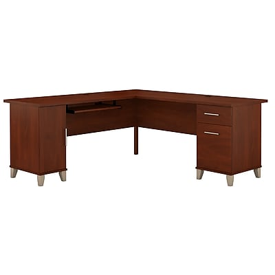 Bush Furniture Somerset 72W L Shaped Desk, Hansen Cherry (WC81710K)