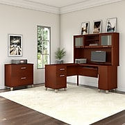 Bush Furniture Somerset 60W L Shaped Desk, Hansen Cherry (WC81730K)