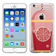 Insten Grapefruit Soda TPU Case For Apple iPhone 6 / 6s - Clear/Red