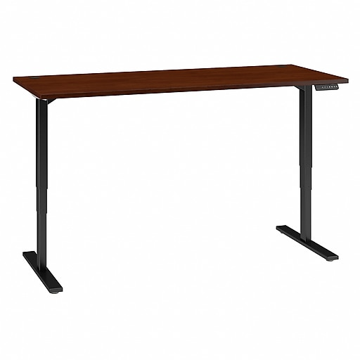 Move 80 Series by Bush Business Furniture 72W x 30D Height Adjustable Standing Desk, Hansen Cherry (HAT7230HCBK)