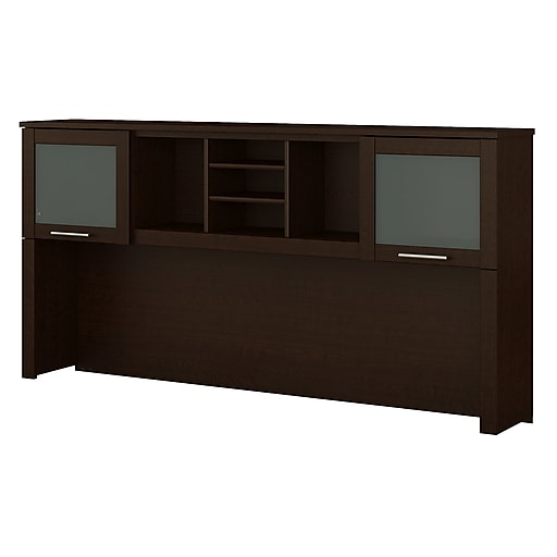 Bush Furniture Somerset 72W Hutch for L Shaped Desk, Mocha Cherry (WC81811)