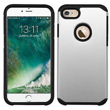 Insten – Étui hybride rigide en silicone caoutchouté pour Apple iPhone 7/ 8, argent/noir (2271072)