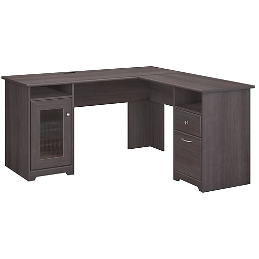 the latest 70950 e6b4e Bush Furniture Cabot L Shaped Desk, Heather Gray (WC31730-03K)