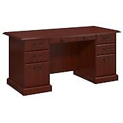 kathy ireland® Home by Bush Furniture Bennington Executive Desk, Harvest Cherry (WC65566-03K)