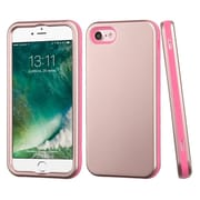 Insten Rose Gold/Electric Pink Hybrid Dual Layer Case Cover for Apple iPhone 7
