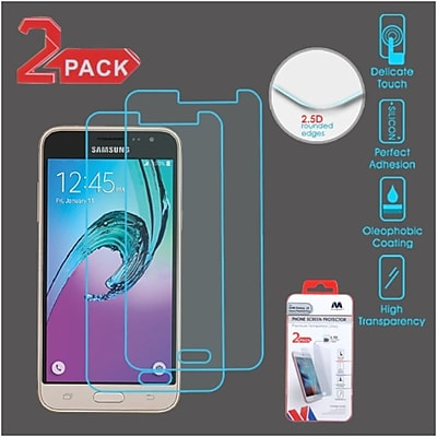 Insten 2-Pack Clear Tempered Glass LCD Screen Protector Cover For Samsung Galaxy Amp PrIme / J3 (2016)
