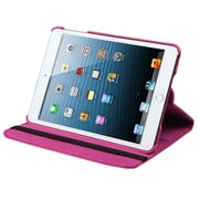 Insten Multi-Viewing Leather Stand Cover Case For iPad Mini 3 2 1 - Hot Pink