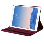 Insten Swivel Folio Leather Fabric Cover Case w/stand For Apple iPad Air 2 - Red