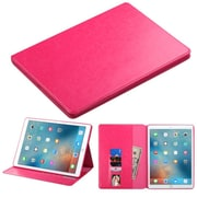 """Insten Folio Leather Fabric Cover Case w/stand/card holder/Photo Display For Apple iPad Pro (12.9"""") - Hot Pink"""