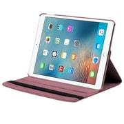 Insten Swivel Folio Leather Fabric Cover Case w/stand For Apple iPad Pro - Pink