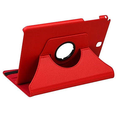 Insten Swivel Flip Leather Fabric Cover Case w/stand For Samsung Galaxy Tab A 9.7 - Red
