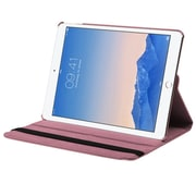 Insten Swivel Folio Leather Fabric Case w/stand For Apple iPad Air 2 - Pink