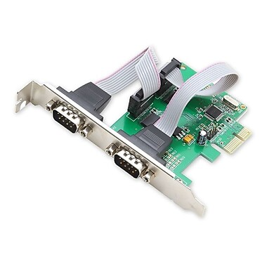 IOCrest PCIe 2x Port Serial DB9 Card WCH CH382 Chipset with Low Profile Bracket