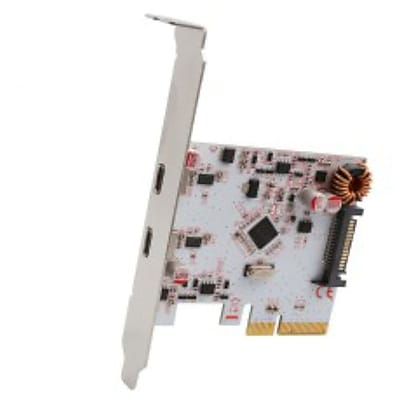Syba PCI-Express 2.0 x4, 2-Port USB 3.1 Gen 2 Type-C Card, ASMedIa 1142+1542 ChIpset, wIth Low ProfIle Bracket