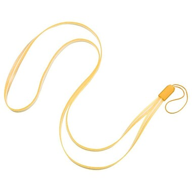 Insten TPU Rubber Gel Lanyard Strap, Baby Yellow, 5/Pack (2164767)