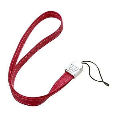 Insten Leather Hand Wrist Lanyard Strap, Red, 5/Pack (2163112)