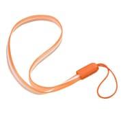 "Insten Orange TPU Rubber Hand Wrist Lanyard Strap (7.5"" inch, Pack of 5)"