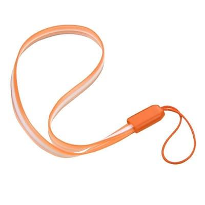 Insten Orange TPU Rubber Hand Wrist Lanyard Strap (7.5