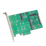 "Syba 3.5"" SATA 7+15 pIn Connector to Dual M.2 NGFF SSD/Dual mSATA SSD RAID Adapter"