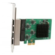 IOCrest PCI-Express 2.0, x4, 4-Port GIgabIt Ethernet RJ45 Card, Realtek+ASMedIa ChIpsets