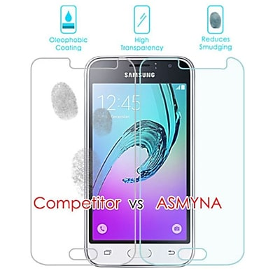 Insten 2-Pack Clear Tempered Glass LCD Screen Protector Cover For Samsung Galaxy Amp 2 / J1 (2016)