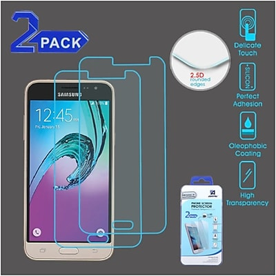 Insten 2-Pack Clear Tempered Glass LCD Screen Protector FIlm Cover For Samsung Galaxy Amp PrIme / J3 (2016)