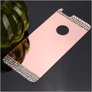 Insten Rose Gold Acyrlic Hard Back Plate with Luxury Diamond for iPhone 6s Plus / 6 Plus