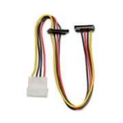 "IOCrest 12 inch 12"" Molex 4-Pin Male to 2x 15 Pin SATA Power Cable Right Angle"
