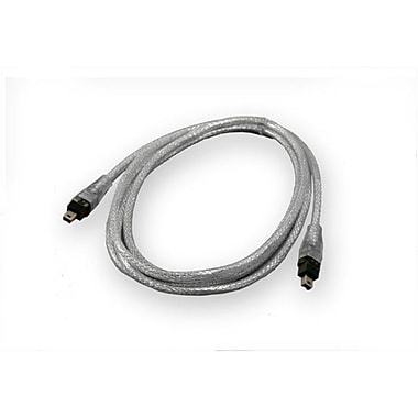 IOCrest Firewire 1394a 6 ft 4 pin to 4 pin Cable Silver