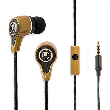 IOCrest Stereo Heavy Bass In-ear Headphones Headset with Mic Champagne