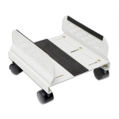 Syba CPU Stand with Castors for Computer Case Aluminum Beige