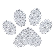 "Insten Paw White Diamante Bling Crystal Decoration Sticker 4"" x 3"""