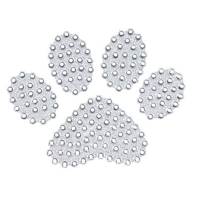 Insten Paw White Diamante Bling Crystal Decoration Sticker 4