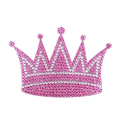 Insten Crown Diamante Bling Crystal Decoration Sticker 6.5