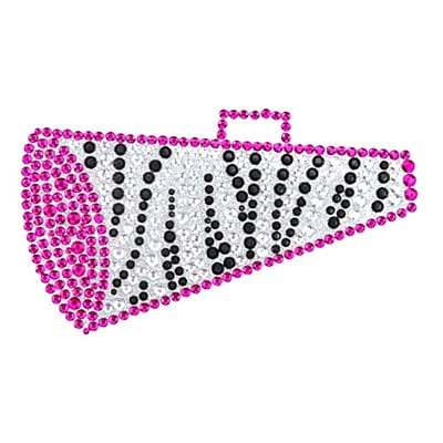 Insten Megaphone Diamante Bling Crystal Decoration Sticker 4.75