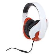 Oblanc Shell200 NC3 2.0 Stereo Headphone with In-line Microphone Black/ White
