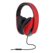 Oblanc Shell200 NC3 2.0 Stereo Headphone with In-line Microphone Black/ Red