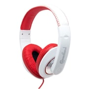 Connectland Fashionable Stylish Stereo Over-Ear Headphone Headset Red
