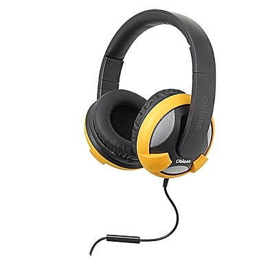 Oblanc UFO200 NC2 2.0 Stereo Headphone with In-line Microphone Black/ Yellow