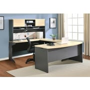 Ameriwood Home Pursuit Office Set with Mobile File Cabinet Bundle, Natural (9848096)