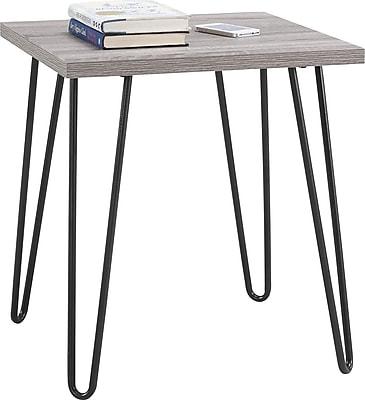 Ameriwood Home Owen Retro End Table, Distressed Gray Oak (5068196PCOM)