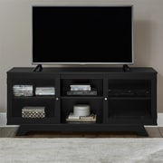 """Ameriwood Home Englewood Laminate TV Stand, Black, For TVs up to 55"""" (1222056PCOM)"""